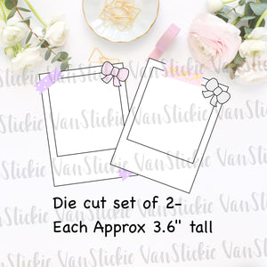 Cute Blank Polaroid Die cut - Set of 2