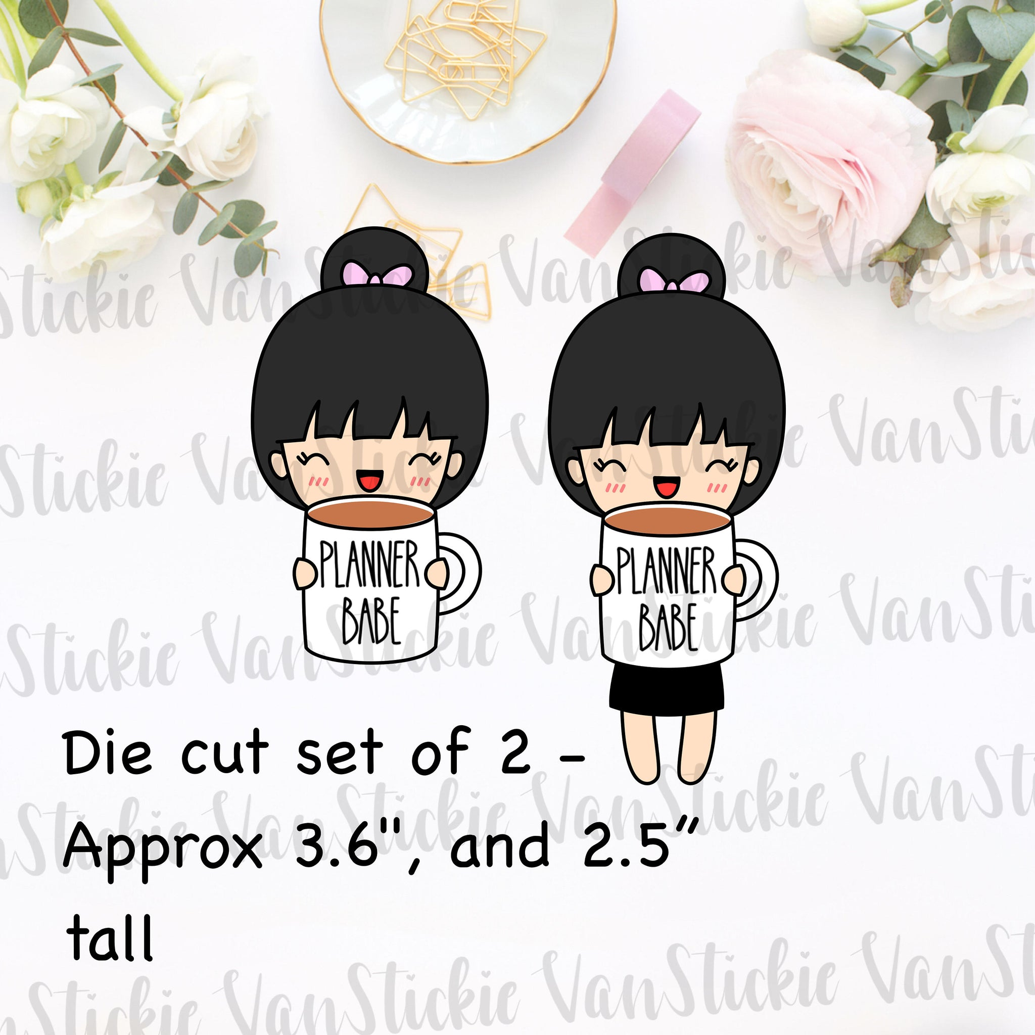 Mug Life Die Cut set of 2