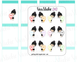 VSC 075 | Chibi - Regular Size Chibi with geotag Planner Stickers