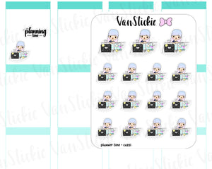 VSO 006 | Planner Time - Ombre Haired Chibit Planner Stickers