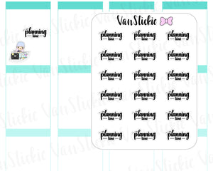 W049| Hand Lettering Stickers - planning time