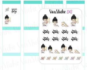 VSS 056 | Chibits Set - Time to Wax Set Planner Stickers