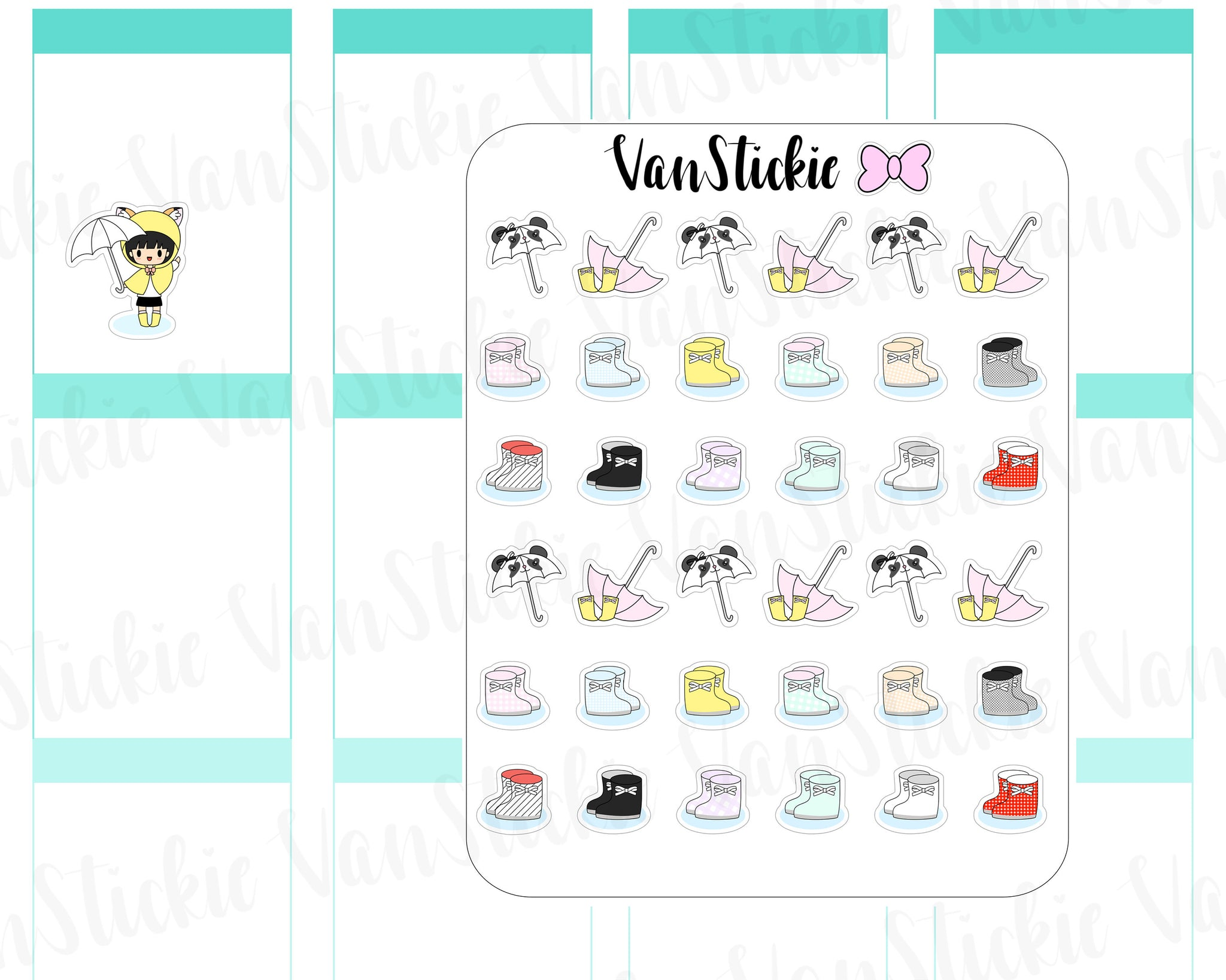 VSD 072| Doodle - Rainy Day Planner Stickers