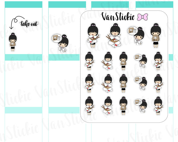 VSC 079 | Chibi - Take Out Chibit Planner Stickers