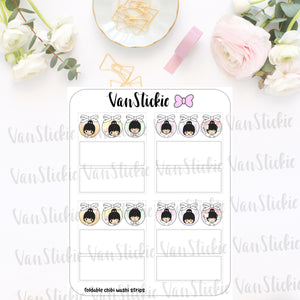 FC018 - Cute Chibi Foldable Washi Box Stickers