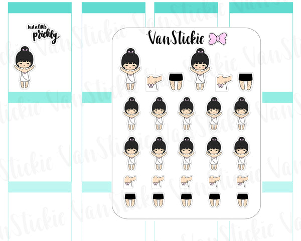 VSC 082 | Chibi - Feeling a little prickly Chibit Planner Stickers