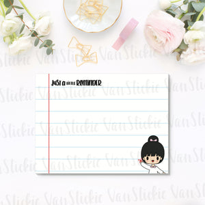 "4x3"" Just a little reminder Sticky Note Pad (Notes 25 Pages)"