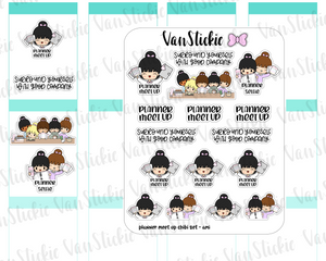 VSS 061 | Chibits Set - Planner Meet up Planner Stickers