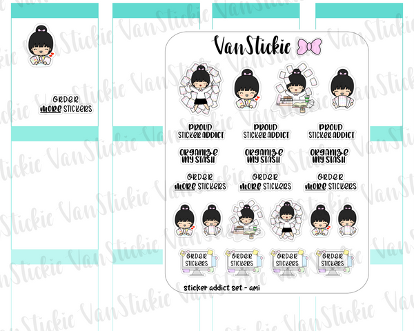 VSS 058 | Chibits Set - Sticker Addict Set Planner Stickers