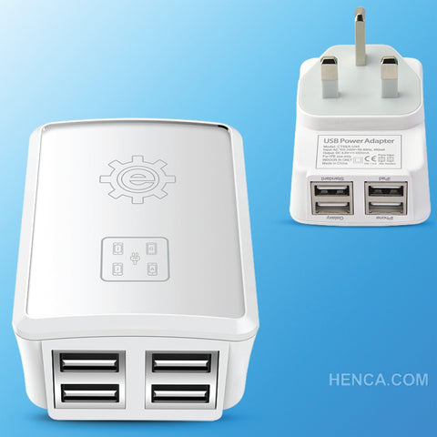 Eleker 4.8A Four USB Home Charger