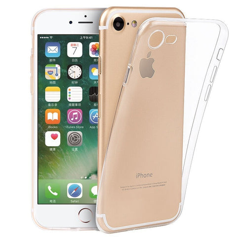 Apple Series Ultra-thin TPU Silicone Back Case