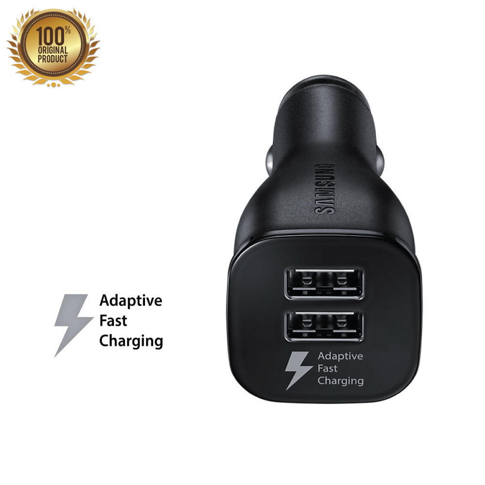 Genuine Samsung Dual USB Adaptive Fast Charging In-Car Charger