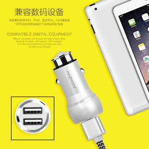 Nafumi Dual USB Port 3.1A In-Car Charger C11