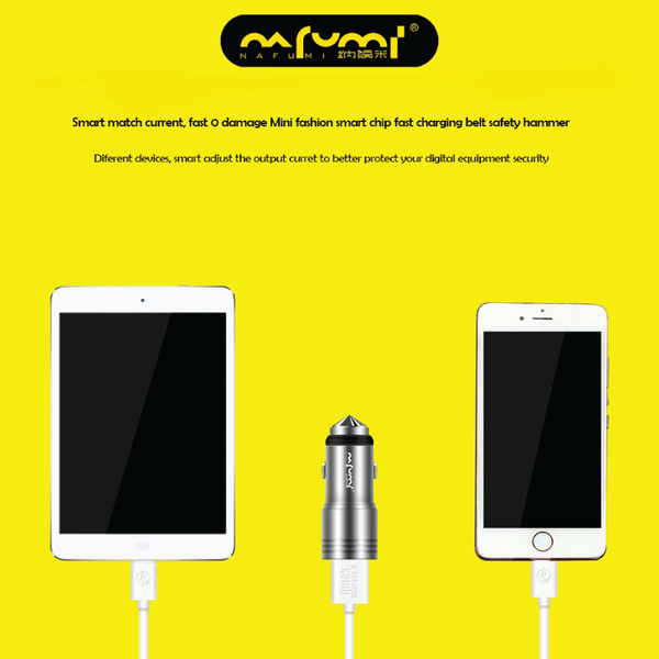 Nafumi Dual USB Port 3.1A In-Car Charger C08