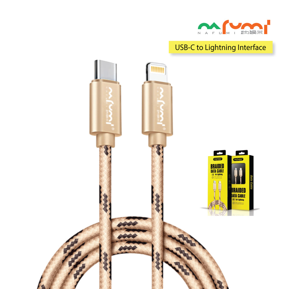 Nafumi 3.1A USB-C to Lightning Cable (1.2m)