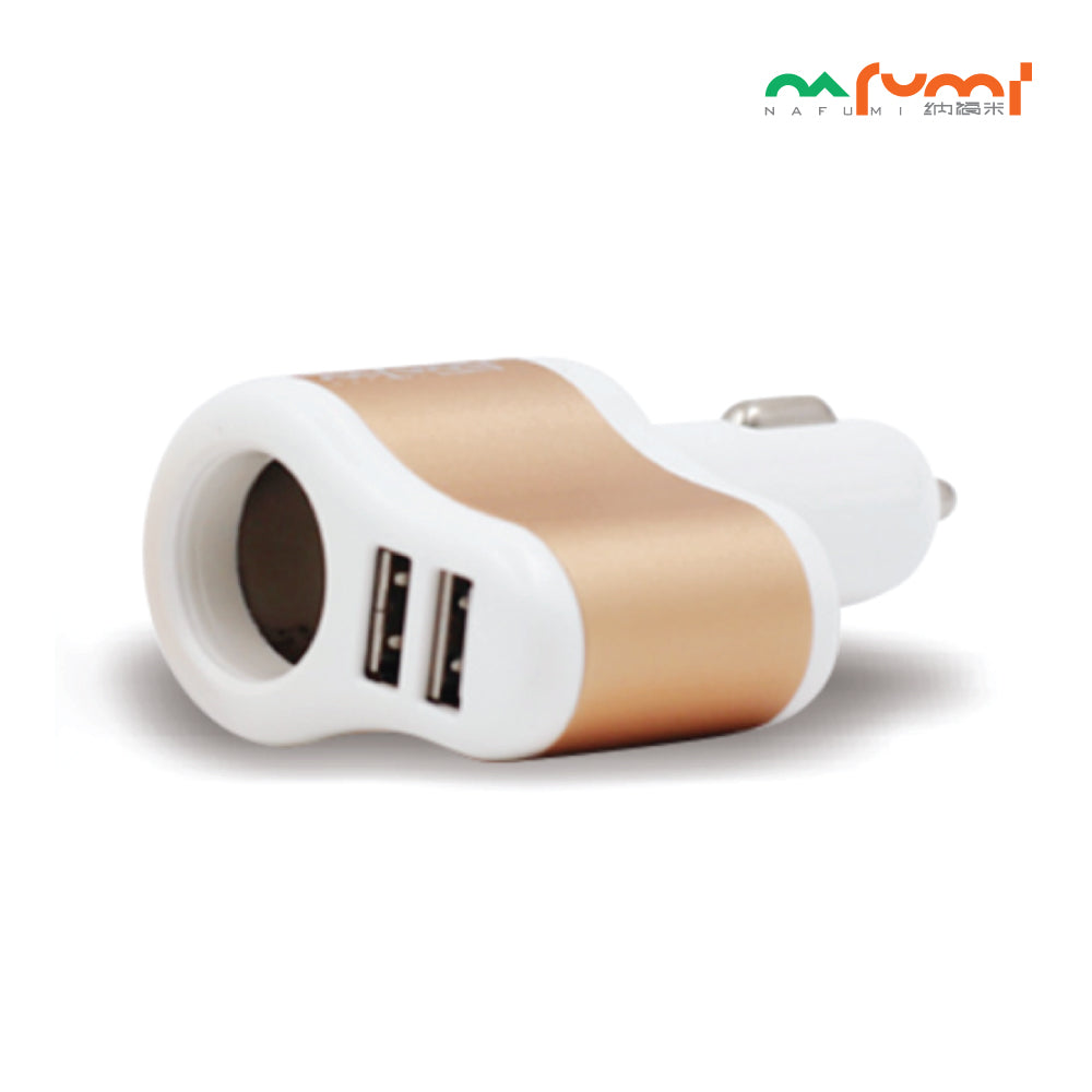 Nafumi Multi Ports 3.1A In-Car Charger C08