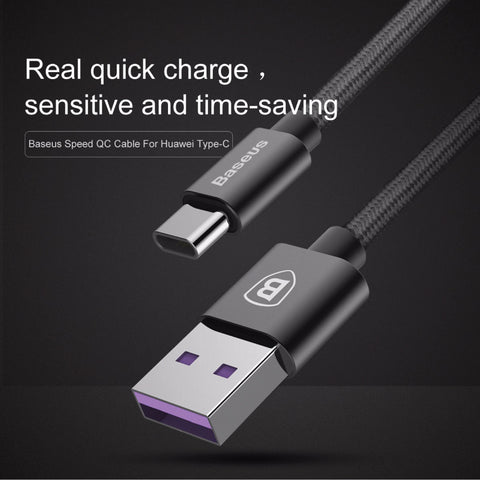 Baseus 5A Type-C to USB Super Charge USB Cable (1m)
