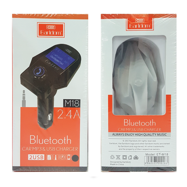 Earldom Bluetooth Car MP3 + USB Charger 2.4A