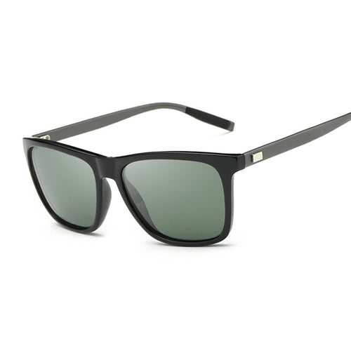 Mens Classic Polarized Sunglasses Vintage Square