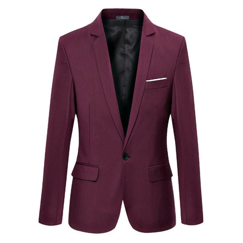 Solid single Buttoned Blazer - Londonman