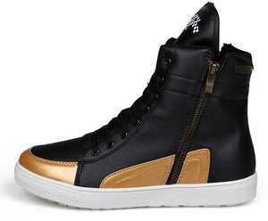 Gold and Black Street Boot
