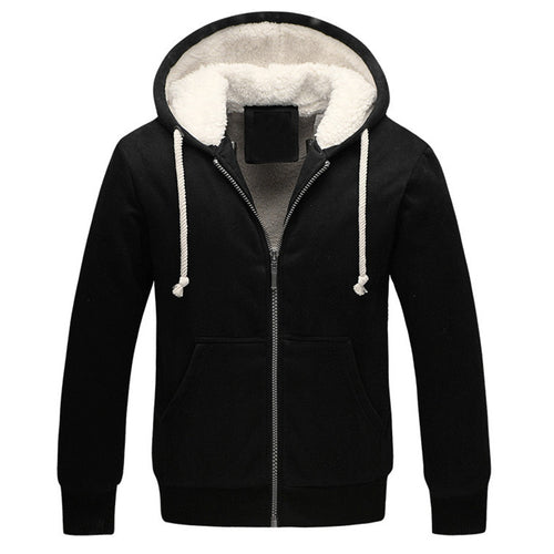 Thick Zipped Fleece Lined Hoodie