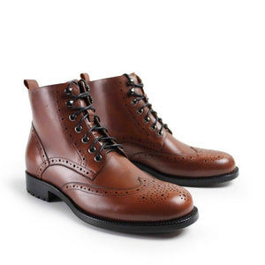 Genuine Leather Hobnail Style Boot
