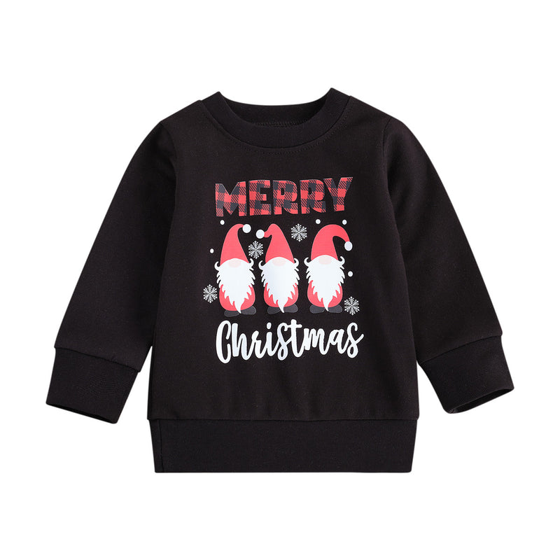 Merry Christmas Santa Sweater - Black