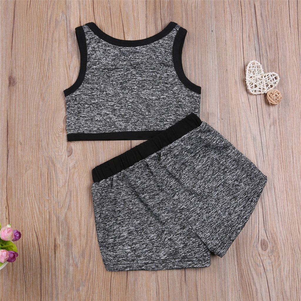 Shirly Activewear 2 Piece -  Black
