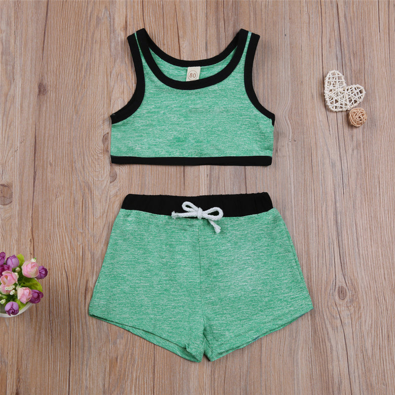 Shirly Activewear 2 Piece -  Green