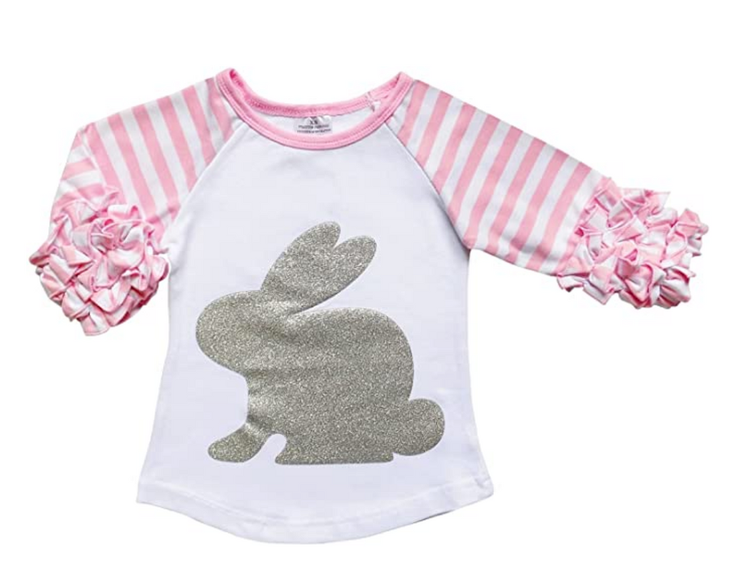 Rabbit Raglan Flutter Top