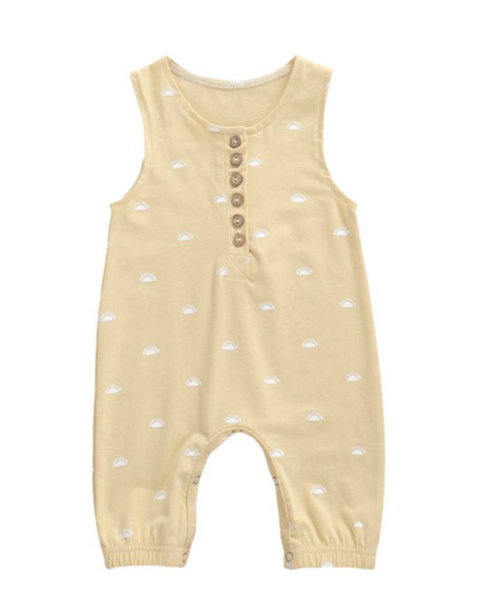 Charley Sleeveless Romper - Yellow Sun