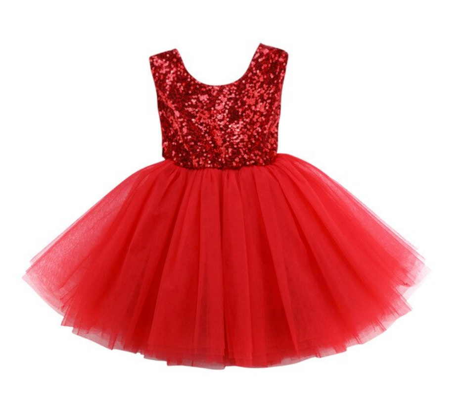 Christmas Holiday Party Dress - Red