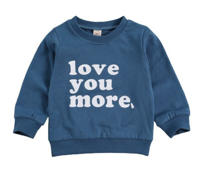 Love You More Sweater - Blue