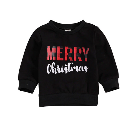 Merry Christmas Sweater - Black
