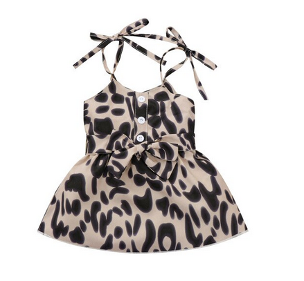 Farrah Leopard Dress - Tan