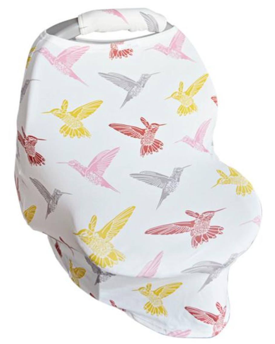 Hummingbirds Carseat Cover w/Plush Handle
