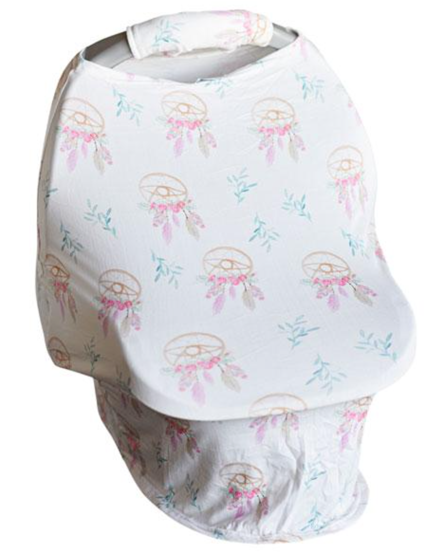 Dream Catcher Floral Carseat Cover w/Plush Handle