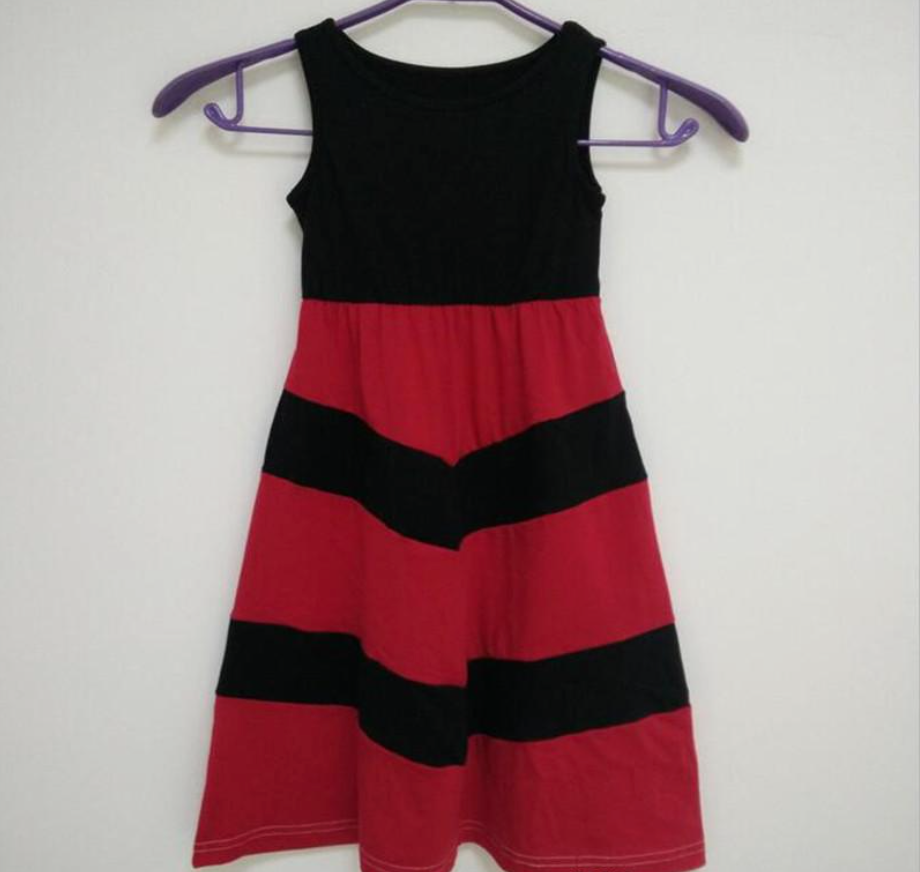 Red and Black Mommy N Me Maxi Dress
