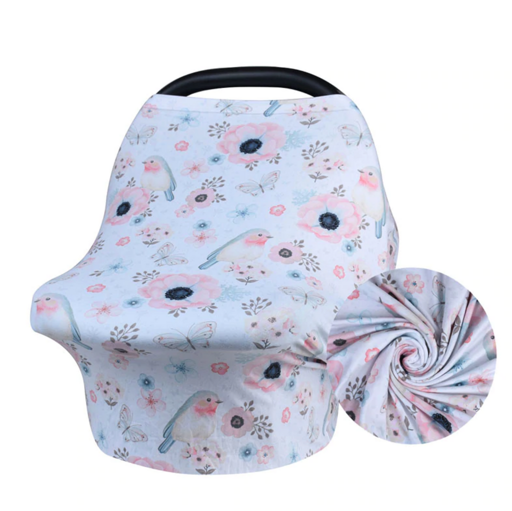Hummingbird Print Carseat Cover