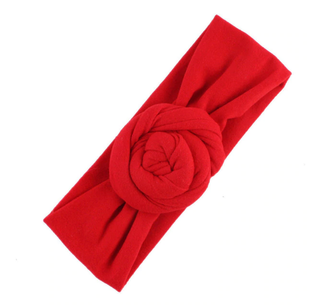 Front Bun Headband - Red