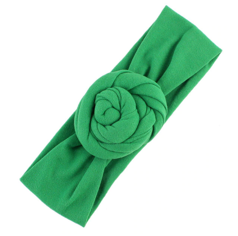 Front Bun Headband - Green