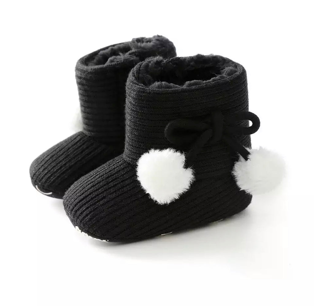 Baby Girl Boots - Black