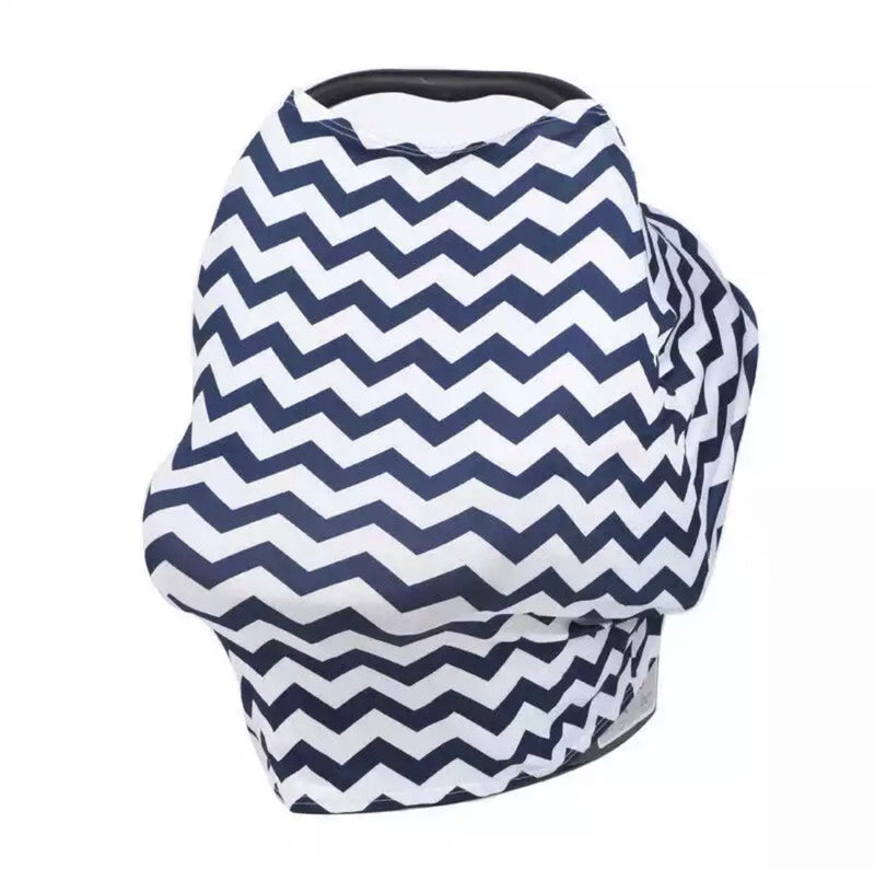Chevron Print Car Seat Cover - Blue