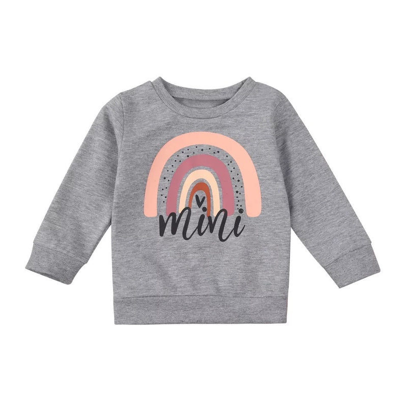 Mini Rainbow Sweater - Gray