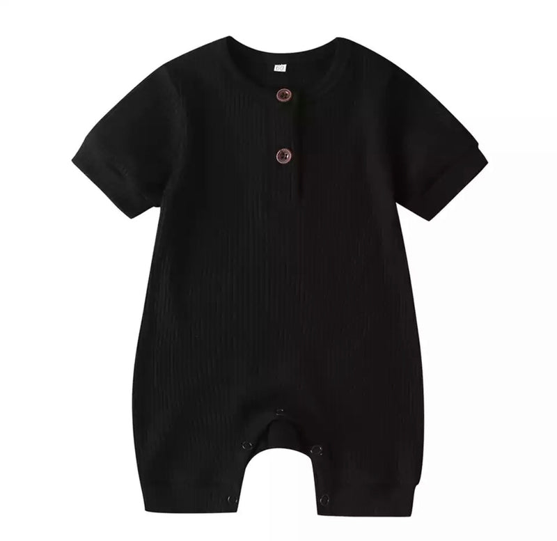 Michael Short Sleeve Romper - Black