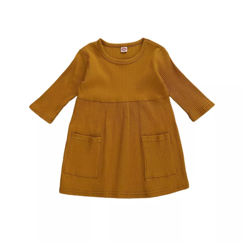 Elizabeth Quarter Sleeve Dress - Mustard