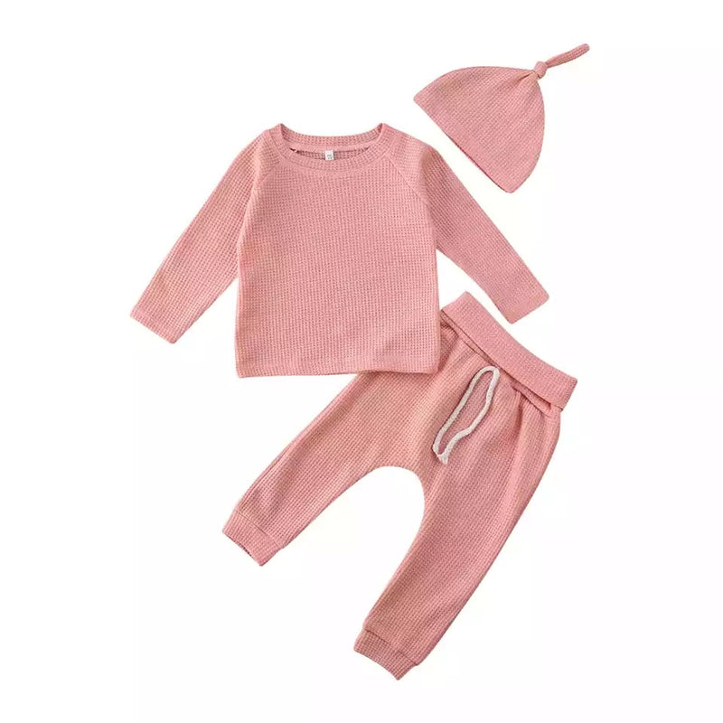 Simple 3 Piece Cotton Set - Pink