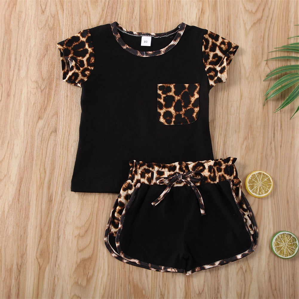 Leopard Playground Outfit - Black