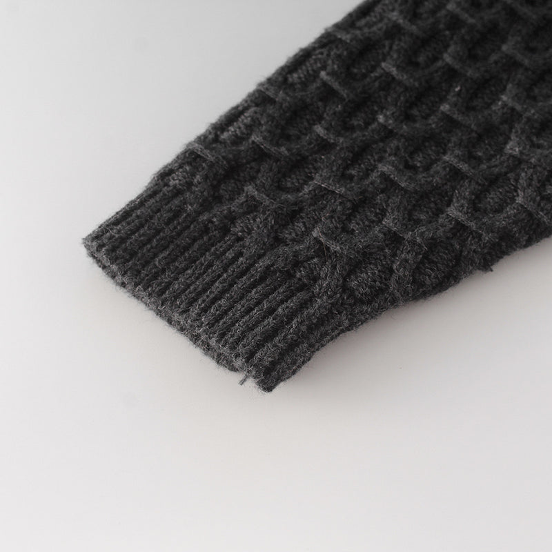 Knitted Baby Cardigan - Black